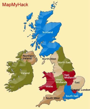 Map Of London North South East West.British Horse Society Rides Trails Bridleways Map